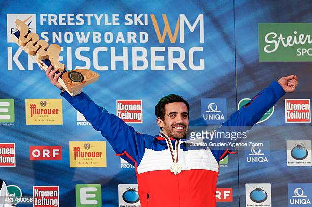 Anthony Benna of France takes 1st place during the FIS Freestyle Ski World Championships Men's and Women's Moguls on January 18, 2015 in Kreischberg,...