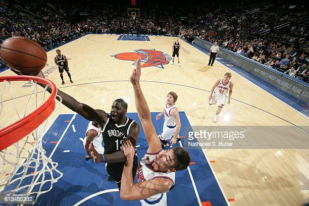 Anthony Bennett of the Brooklyn Nets shoots the ball against the New York Knicks at Madison Square Garden in New York City on October 8 2016 NOTE TO...