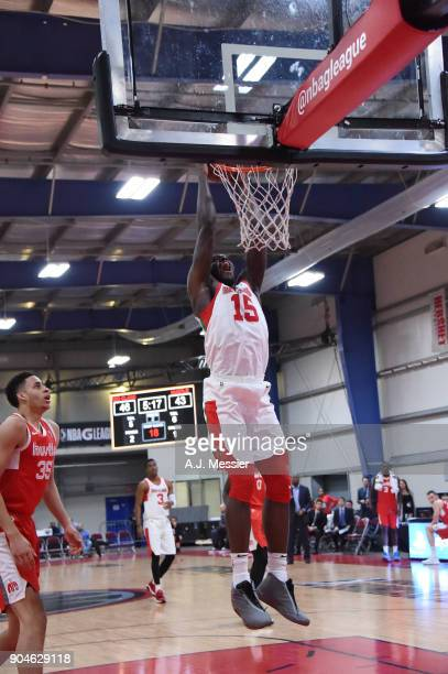 Anthony Bennett of the Maine Red Claws drives to the basket during the NBA GLeague Showcase Game 25 between the Memphis Hustle and the Maine Red...