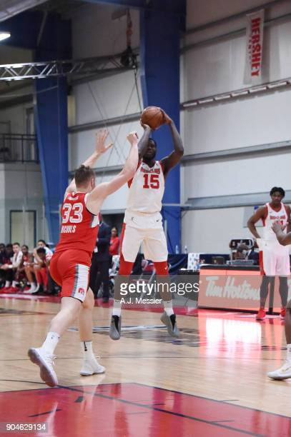 Anthony Bennett of the Maine Red Claws handles the ball during the NBA GLeague Showcase Game 25 between the Memphis Hustle and the Maine Red Claws on...
