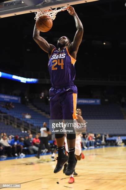 Anthony Bennett of the Northern Arizona Suns dunks the ball against the Agua Caliente Clippers on December 8 2017 at Citizens Business Bank Arena in...