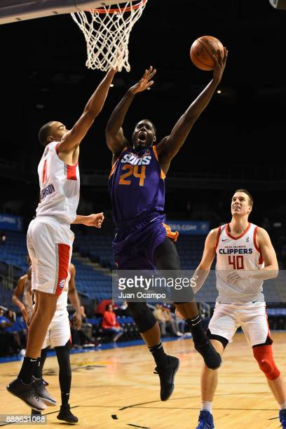 Anthony Bennett of the Northern Arizona Suns shoots the ball against the Agua Caliente Clippers on December 8 2017 at Citizens Business Bank Arena in...