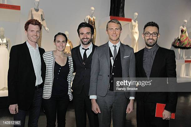 Anthony Bianchi Meghan Bryant Daniel Roseberry guest and Stephan Rabimov attends a private tour hosted by Depesha Magazine of IMPACT 50 Years of the...
