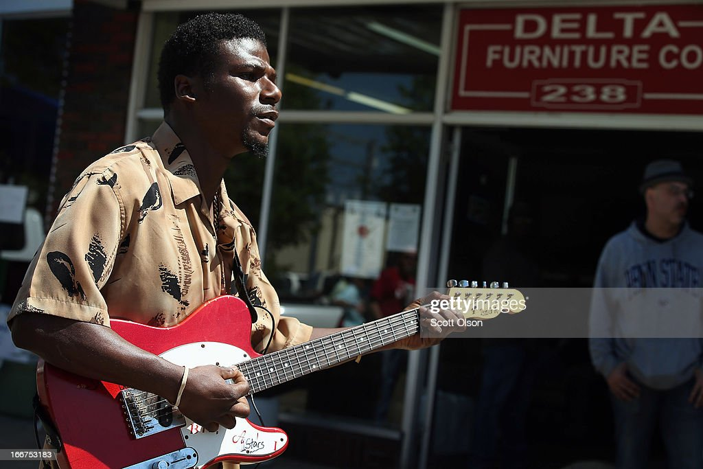 Anthony U0027Big Au0027 Sherrod Performs Outside The Delta Furniture Company April  13 2013 In