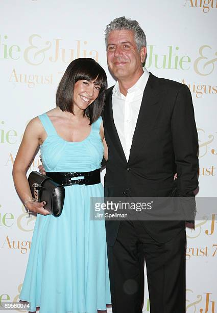 Anthony Bourdain and guest attend the 'Julie Julia' premiere at the Ziegfeld Theatre on July 30 2009 in New York City