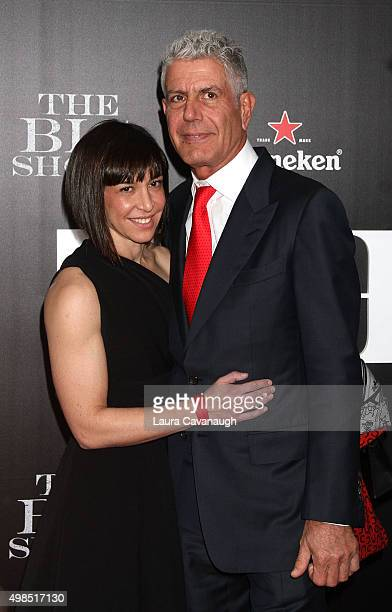 Anthony Bourdain and Ottavia Busia attend 'The Big Short' New York Premiere Outside Arrivals at Ziegfeld Theater on November 23 2015 in New York City