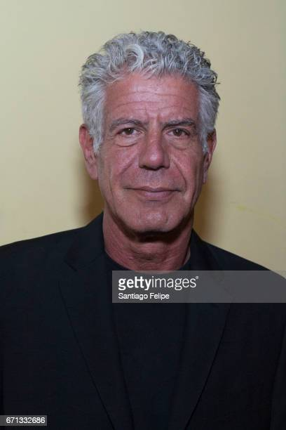 Anthony Bourdain attends 'Jeremiah Tower The Last Magnificent' New York Screening at Landmark Sunshine Cinema on April 21 2017 in New York City