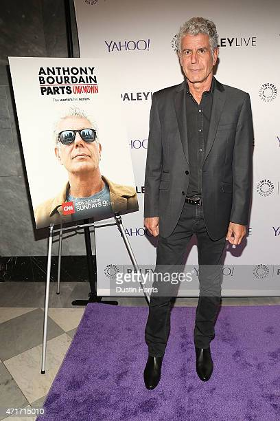Anthony Bourdain attends 'Parts Unknown' and Beyond A Conversation with Anthony Bourdain hosted by The Paley Center For Media on April 30 2015 in New...
