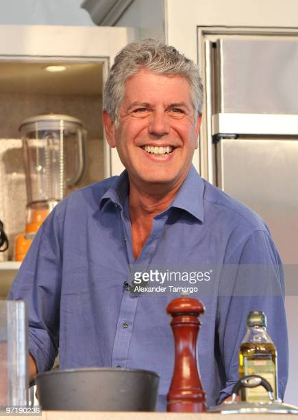 Anthony Bourdain attends the 2010 South Beach Wine and Food Festival Grand Tasting Village on February 28 2010 in Miami Beach Florida