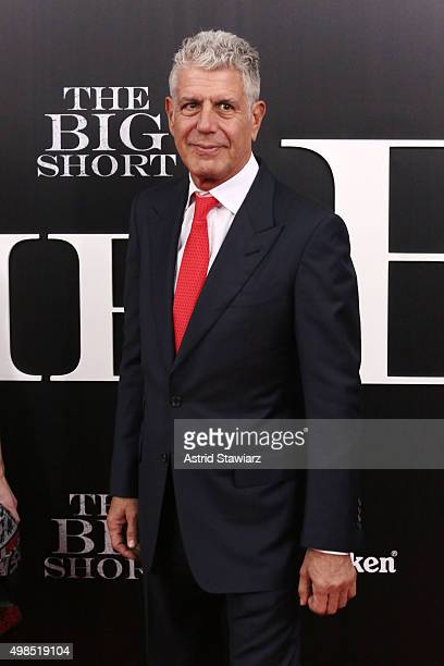 Anthony Bourdain attends 'The Big Short' New York premiere at Ziegfeld Theater on November 23 2015 in New York City