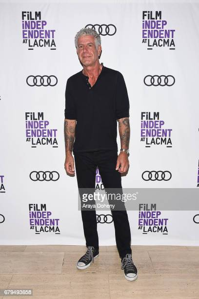 Anthony Bourdain attends the Film Independent at LACMA screening of 'Anthony Bourdain Parts Unknown' at Bing Theatre At LACMA on May 5 2017 in Los...