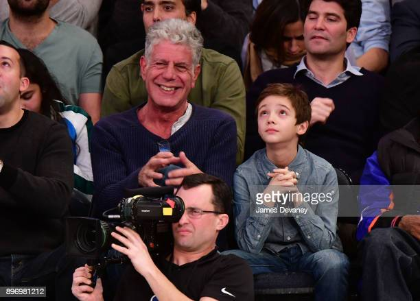 Anthony Bourdain attends the New York Knicks Vs Boston Celtics game at Madison Square Garden on December 21 2017 in New York City