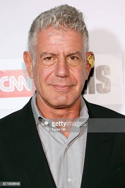 Anthony Bourdain attends the premiere of 'Jeremiah Tower The Last Magnificent' at Borough of Manhattan Community College during the 2016 TriBeCa Film...