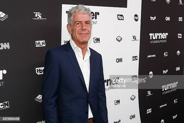 Anthony Bourdain attends the Turner Upfront 2016 arrivals at The Theater at Madison Square Garden on May 18 2016 in New York City