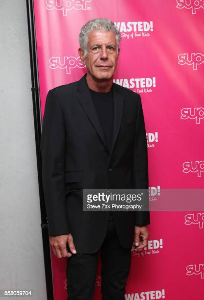 Anthony Bourdain attends 'Wasted The Story Of Food Waste' New York Premiere at Alamo Drafthouse Cinema on October 5 2017 in the Brooklyn borough of...