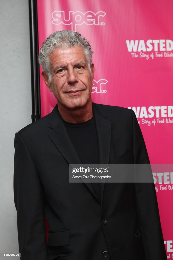 Anthony Bourdain attends 'Wasted! The Story Of Food Waste' New York Premiere at Alamo Drafthouse Cinema on October 5, 2017 in the Brooklyn borough of New York City.