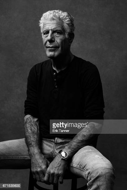 Anthony Bourdain from 'WASTED The Story of Food Waste' poses at the 2017 Tribeca Film Festival portrait studio on April 21 2017 in New York City