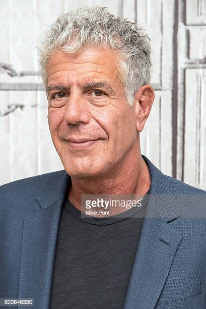 Anthony Bourdain visits the Build Series to discuss 'Raw Craft' at AOL HQ on November 2 2016 in New York City