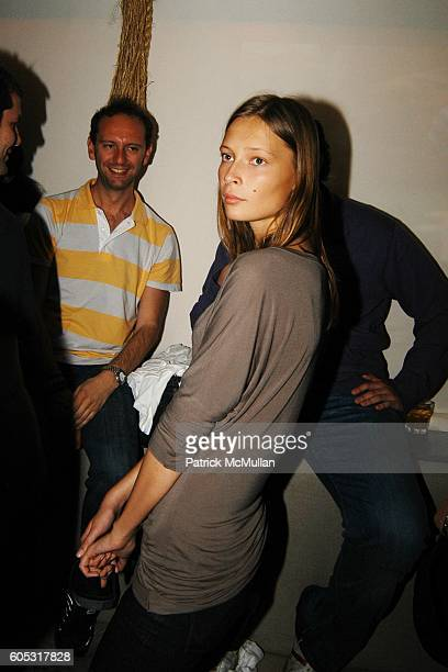 Anthony Bourgois and Tiiu Kiuk attend DJ Cassidy and Fonzworth Bentley Host BUNNY CHOW Sunday at CAIN Southampton Club on May 28 2006 in Southampton...