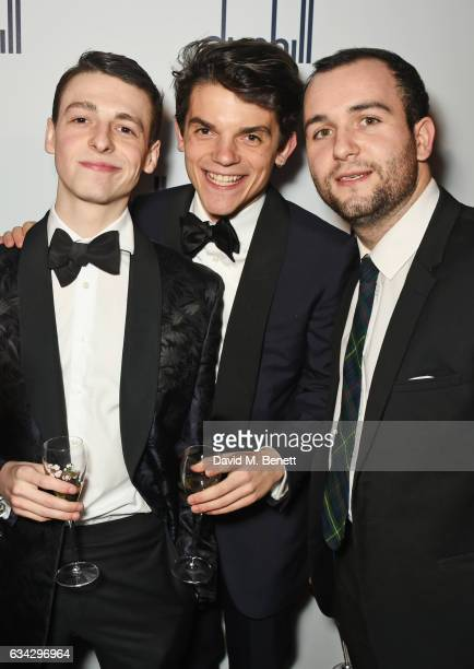 Anthony Boyle Edward Bluemel and guest attend the dunhill and Dylan Jones preBAFTA dinner and cocktail reception celebrating Gentlemen in Film at...