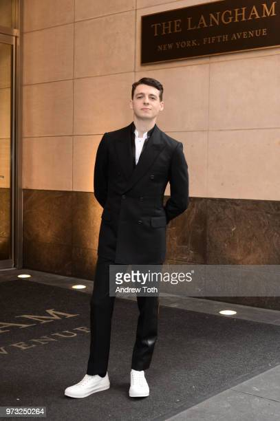 Anthony Boyle poses for a photo as the 2018 TONY award nominees prep at Langham Hotel on June 10 2018 in New York City