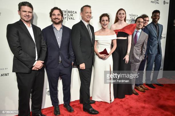 Anthony Bregman James Ponsoldt Tom Hanks Tom Hanks Emma Watson Karen Gillan Amir Talai Ellar Coltrane Mamoudou Athie attend The Circle premiere...