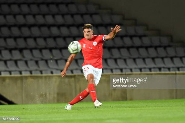 Anthony Briancon of Nimes during the Ligue 2 match between Nimes and Aj auxerre on September 15 2017 in Nimes France