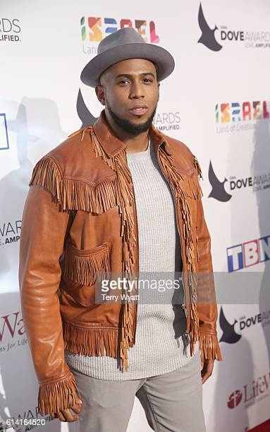 Anthony Brown arrives at the 2016 Dove Awards at Allen Arena Lipscomb University on October 11 2016 in Nashville Tennessee