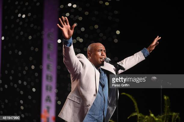 Anthony Brown of Anthony Brown and Group TherAPY performs during the McDonald's Inspiration Celebration Gospel Tour at Georgia World Congress Center...