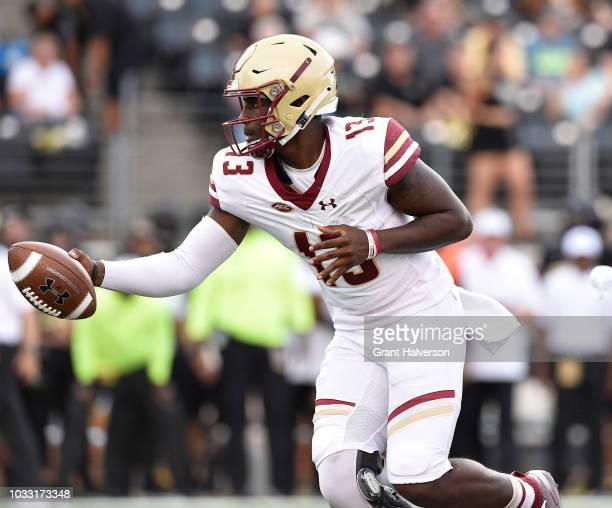 Anthony Brown of the Boston College Eagles against the Wake Forest Demon Deacons during their game at BBT Field on September 13 2018 in Winston Salem...