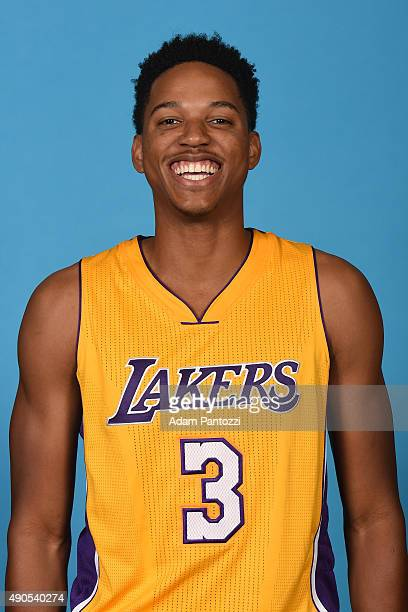 Anthony Brown of the Los Angeles Lakers poses for a headshot during media day at Toyota Sports Center on September 28 2015 in El Segundo California...