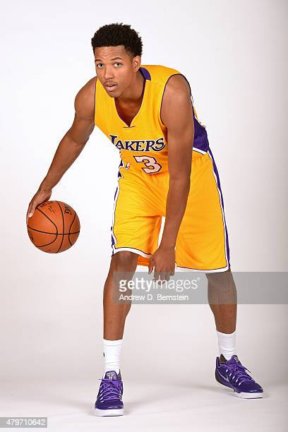 Anthony Brown of the Los Angeles Lakers poses for a portrait at Toyota Sports Center on July 6 2015 in El Segundo California NOTE TO USER User...