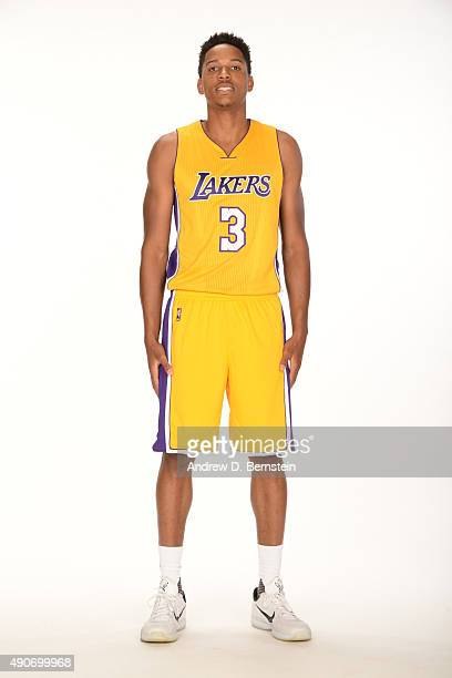 Anthony Brown of the Los Angeles Lakers poses for a portrait during media day at Toyota Sports Center on September 28 2015 in El Segundo California...