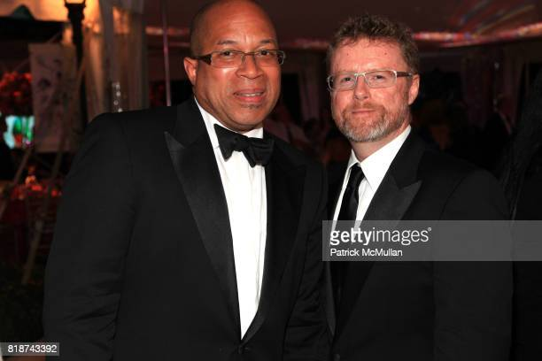 Anthony Brownie and Donald Murphy attend Wildlife Conservation Society Spring 2010 Gala Flight of Fancy at Central Park Zoo on June 10 2010 in New...