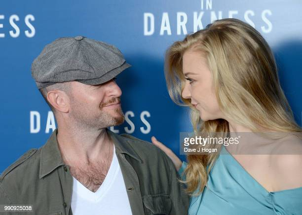 Anthony Byrne and Natalie Dormer attend the UK Screening of 'In Darkness' at Picturehouse Central on July 3 2018 in London England