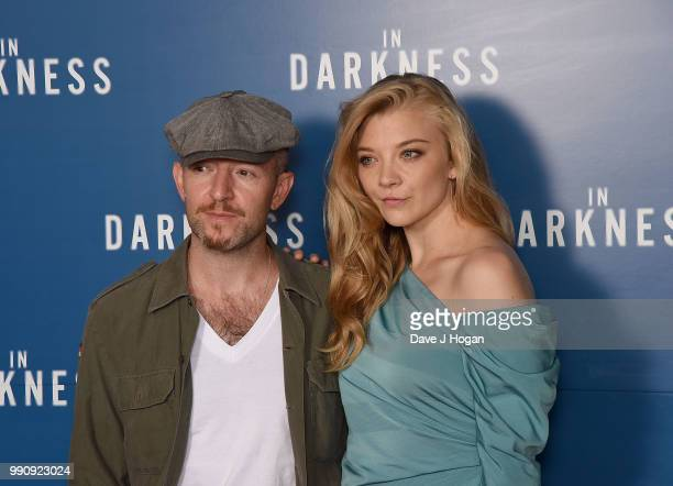 Anthony Byrne and Natalie Dormer attends the UK Screening of 'In Darkness' at Picturehouse Central on July 3 2018 in London England