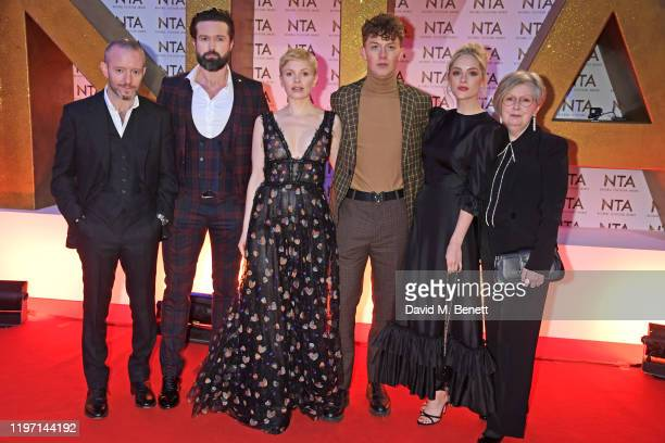 Anthony Byrne Emmett J Scanlan Kate Phillips Harry Kirton Sophie Rundle and guest attend the National Television Awards 2020 at The O2 Arena on...