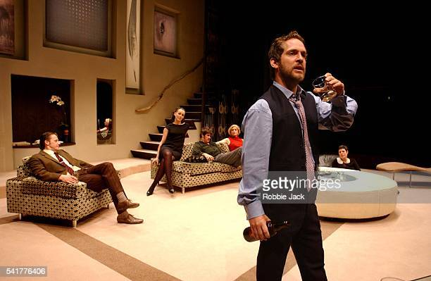 Anthony Calf Olivia Williams Adrian Bower Susannah Harker Selina Griffiths and Tom Hollander in the production 'The Hotel In Amsterdam' at the Donmar...