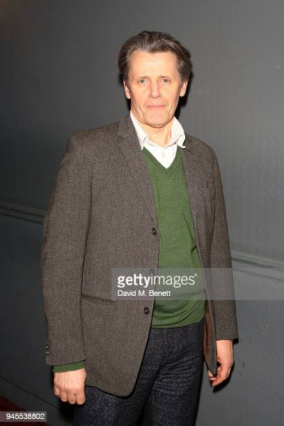 Anthony Calf poses backstage following the press night performance of The Moderate Soprano at the Duke Of Yorkâs Theatre on April 12 2018 in London...