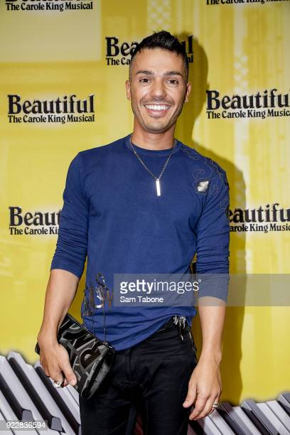 Anthony Callea arrives ahead of the premiere of Beautiful The Carole King Musical at Her Majesty's Theatre on February 22 2018 in Melbourne Australia