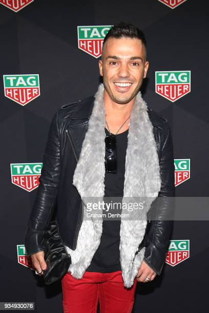 Anthony Callea arrives at the TAG Heuer Australia Grand Prix Party at Luminare on March 20 2018 in Melbourne Australia