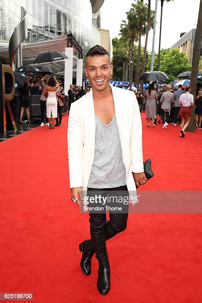 Anthony Callea arrives for the 30th Annual ARIA Awards 2016 at The Star on November 23 2016 in Sydney Australia