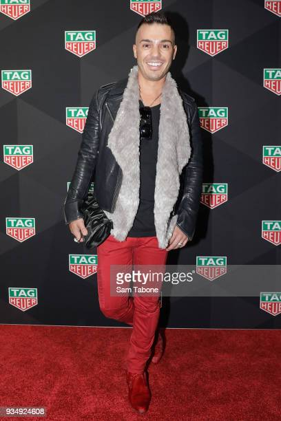 Anthony Callea attends the TAG Heuer Grand Prix Party on March 20 2018 in Melbourne Australia
