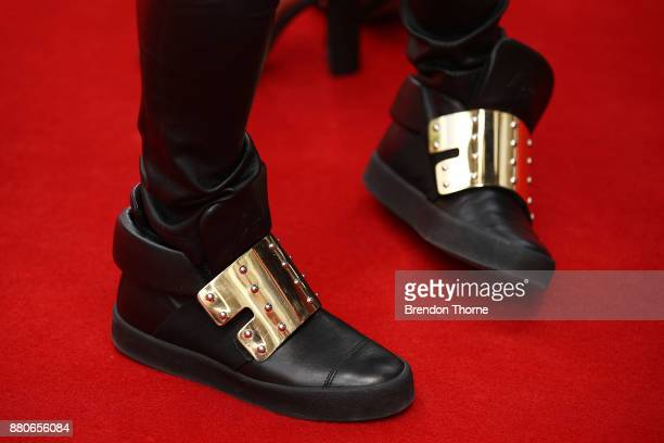 Anthony Callea design detail arrives for the 31st Annual ARIA Awards 2017 at The Star on November 28 2017 in Sydney Australia