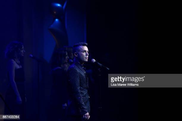 Anthony Callea performs backstage during the 7th AACTA Awards Presented by Foxtel at The Star on December 6 2017 in Sydney Australia