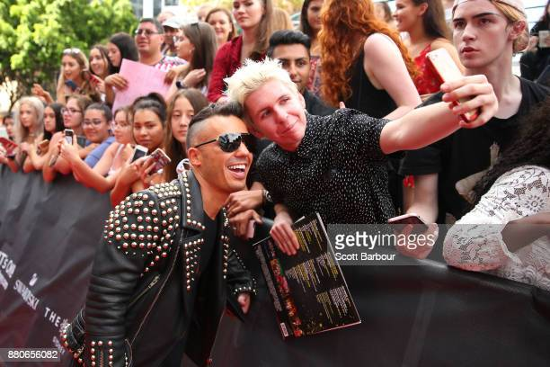 Anthony Callea poses with fans on the red carpet ahead of the 31st Annual ARIA Awards 2017 at The Star on November 28 2017 in Sydney Australia