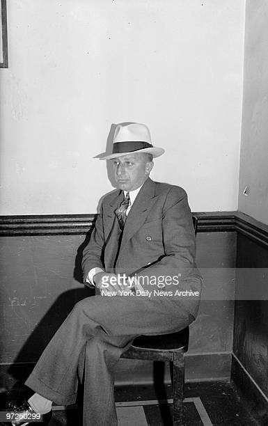 Anthony Carafano aka Little Augie Pisano at Brooklyn Police Headquarters after his arrest
