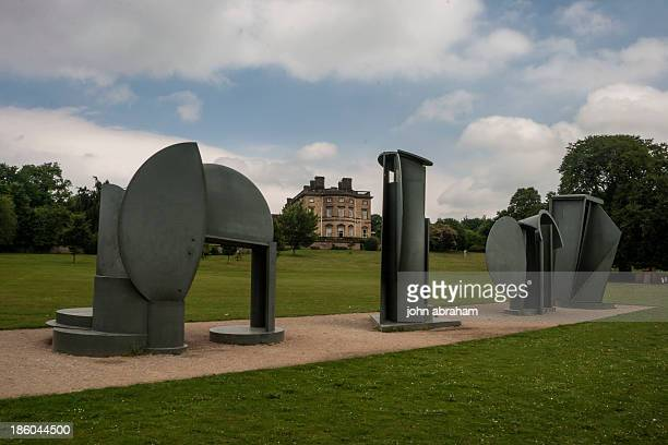 Anthony Caro Promenade 1996. Originaly created for the Tuileries gardens in paris. Now sited at the Yorkshire Sculpture park,near Leeds,UK.