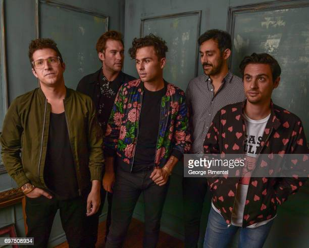 Anthony Carone Tim Oxford Max Kerman Nick Dika and Mike DeAngelis of the Arkells pose for a portrait at the 2017 iHeartRADIO MuchMusic Video Awards...