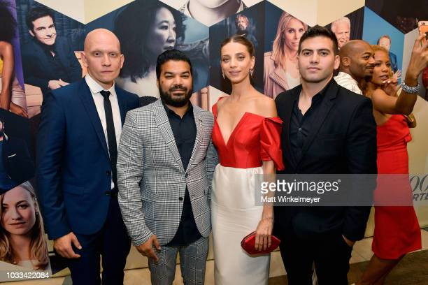 Anthony Carrigan Adrian Dev Angela Sarafyan and a guest attend The Hollywood Reporter SAGAFTRA 2nd annual Emmy Nominees Night presented by Douglas...